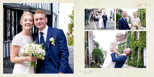 pictures from custom online photobook for wedding memories
